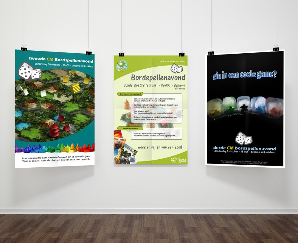 CM boardgame event posters