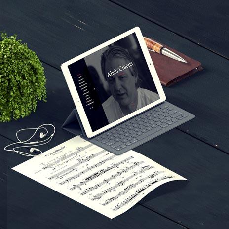Responsive Website for Composer of Classical Music Alain Craens