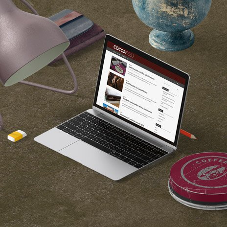Responsive Website for chocolate blog Cocoafeed