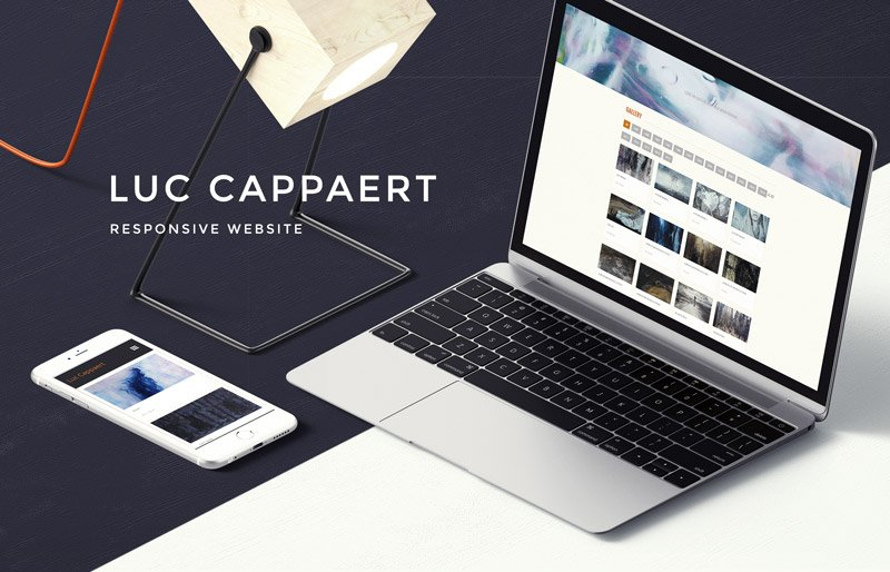 Pixel Flavored Web Design: Responsive Website for Artist Luc Cappaert